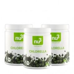 nu3, Chlorella bio, comprimés, lot de 3