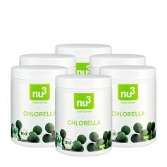 nu3, Chlorella bio, comprimés, lot de 6