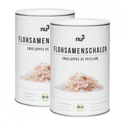 nu3, Enveloppes de psyllium biologique, lot de deux, graines