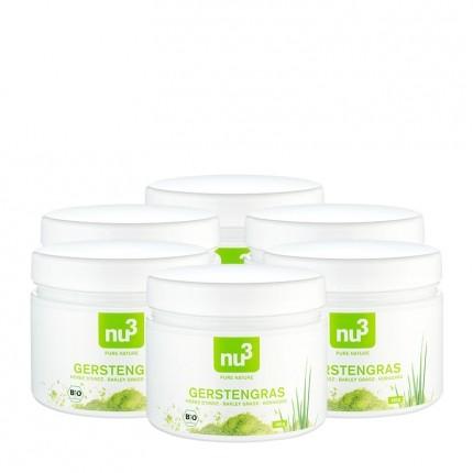 6 x nu3 Bio Gerstengras, Pulver