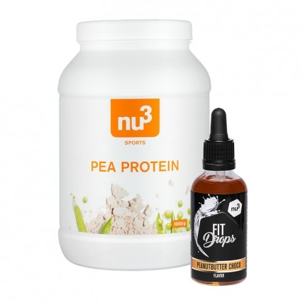 nu3 Erbsenprotein + Fit Drops, Erdnussbutter-Schoko