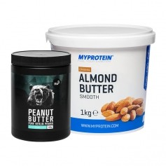 2 x nu3 Bio Kokosöl + MyProtein Mandelbutter