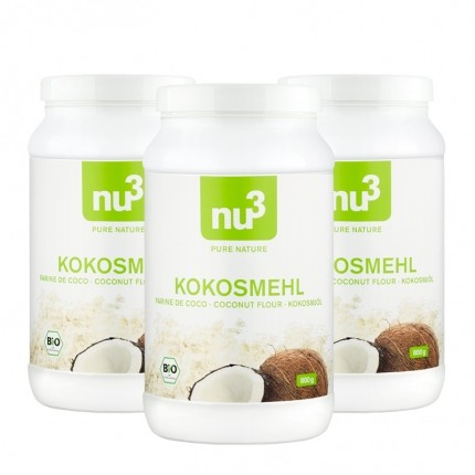 3 x nu3 Bio Kokosmehl