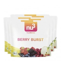 6 x nu3 Flavorites Berry Burst Økologisk Smoothie, Pulver