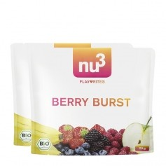 2 x nu3 Flavorites Berry Burst Økologisk Smoothie, Pulver