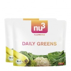 2 x nu3 Flavorites Daily Greens Økologisk Smoothie, Pulver