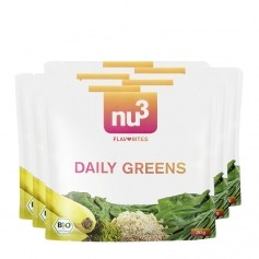 6 x nu3 Flavorites Daily Greens -smoothiejauhe, luomu