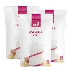 nu3, Formula Diet, poudre, lot de 3