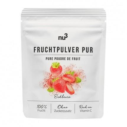 nu3 Fruchtpulver Pur, Erdbeere (80 g)