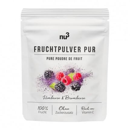 Fruchtpulver Pur, Himbeere & Brombeere von nu3