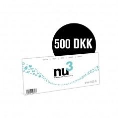 nu3 Gavekort 500 DKK