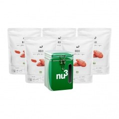 5 x nu3 Goji, EKO med PURE NATURE Box