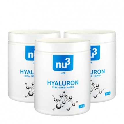 3 x nu3 Hyaluronsyre, kapsler