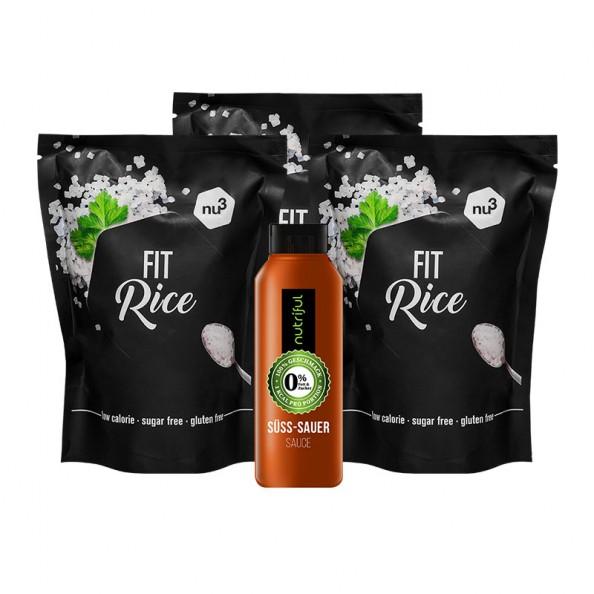 Nu3 Low Carb Reis + Süß-Sauer Soße, Extra Kalorienarm