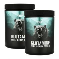 nu3, L-glutamine, poudre, lot de 2