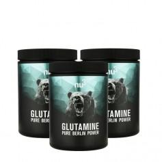 nu3, L-Glutamine, poudre, lot de 3