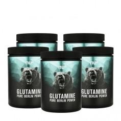 nu3, L-Glutamine, poudre, lot de 5