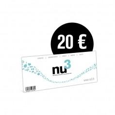 nu3 Lahjakortti 20€