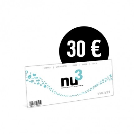 nu3 Lahjakortti 30€
