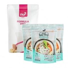 nu3 Lowcarb dietpaket: Formula Diet, Pulver + 3 x nu3 Low Carb Fettuccine