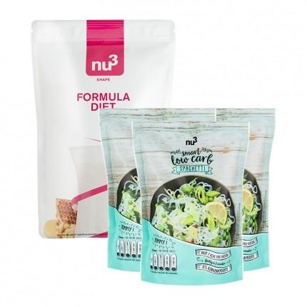 nu3 Low-Carb Diettpakke: nu3 Formula Diet + nu3 Low Carb Spagetti