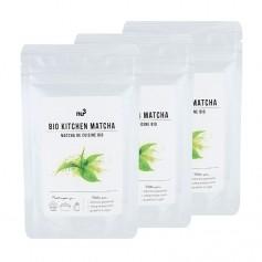 3 x nu3 økologisk matcha bakepulver, pulver