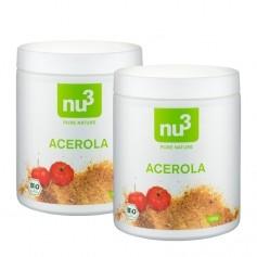 2 x nu3 Økologisk Acerola, pulver