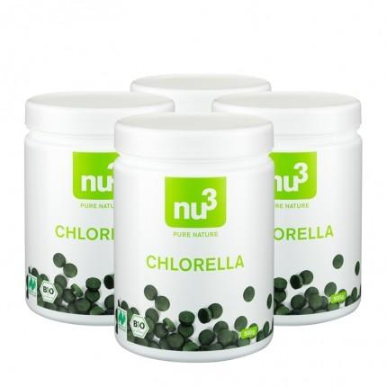 4 x nu3 Bio Chlorella, Presslinge