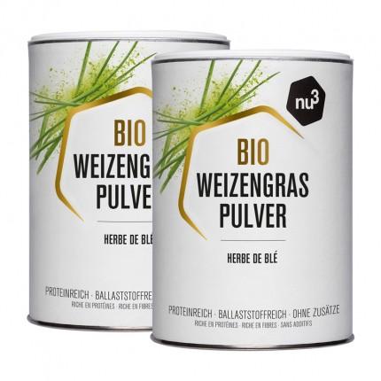 2 x nu3 Økologisk hvetegress, pulver