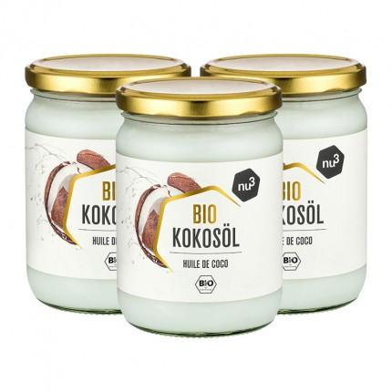 3 x nu3 økologisk kokosolje