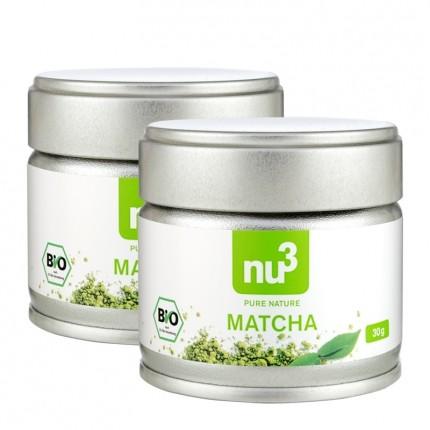 2 x nu3 økologisk Matcha-te, pulver