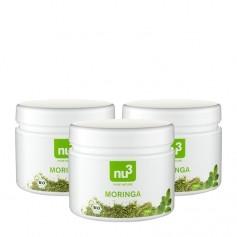 3 x nu3 Økologisk Moringa Pulver