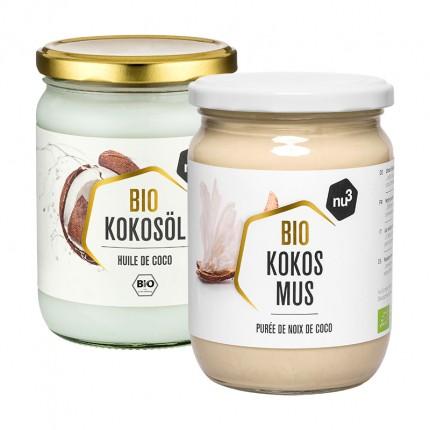 nu3 Bio Kokosöl + Bio Kokosmus