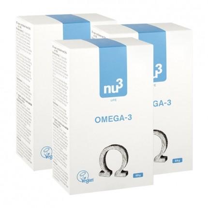 3 x nu3 Omega-3 - vegan capsules