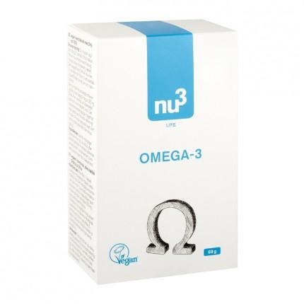 3x nu3 Omega-3 - vegan, kapslar