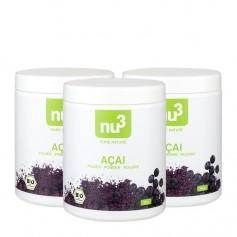 3 x nu3 Organic Acai Powder