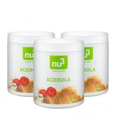 3 x nu3 Organic Acerola Powder