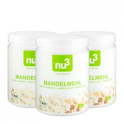 3 x nu3 Organic Almond Flour