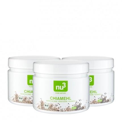 3 x nu3 Organic Chia Flour