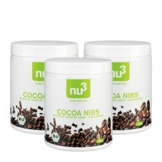 3 x nu3 Organic Cocoa Nibs
