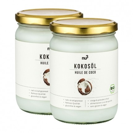 nu3 Organic Coconut Oil Double Pack