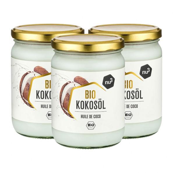 3 x nu3 Organic Coconut Oil