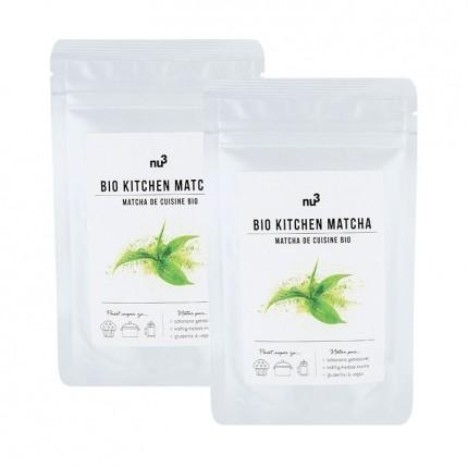 nu3 Organic Cooking Matcha double pack Powder