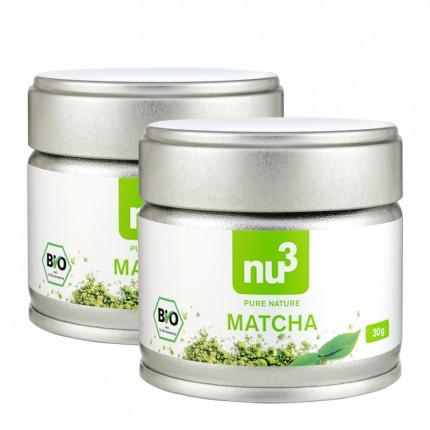 2 x nu3 Organic Matcha Tea Powder