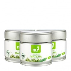 3 x nu3 Organic Matcha Tea Powder
