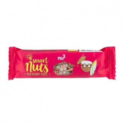3 x nu3 Organic Red Berry Coco Bar