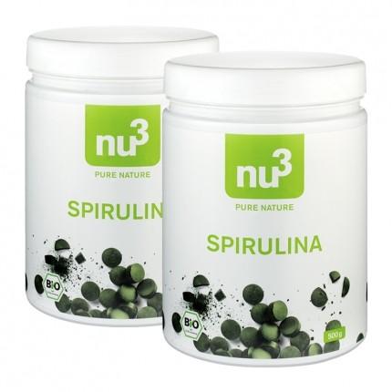 2 x nu3 Organic Spirulina, tablets