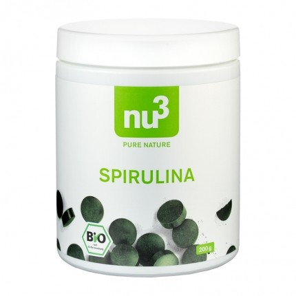 3 x nu3 Organic Spirulina, tablets