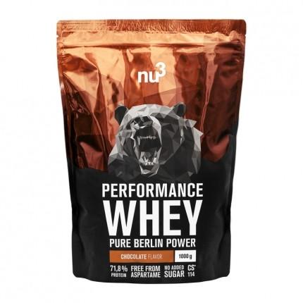 nu3 Performance Whey Chocolate, Pulver, 1000g