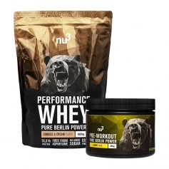 nu3 Performance Whey, Cookies-Cream + Pre Workout Booster